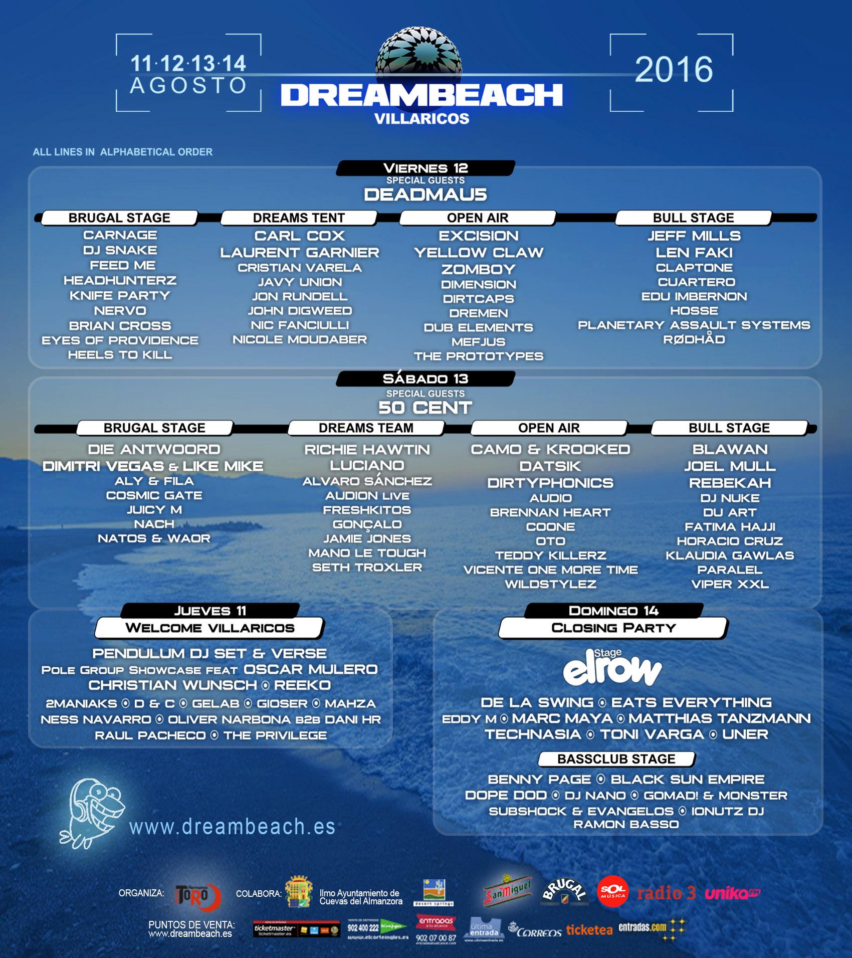 DREAMBEACH VILLARICOS 2016